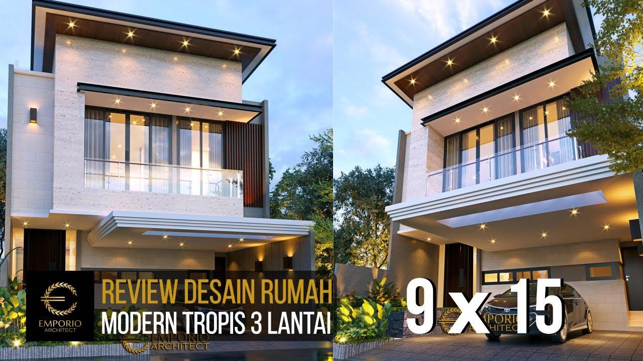 Video 3D Desain Rumah Modern 3 Lantai Bapak Anton di Jakarta
