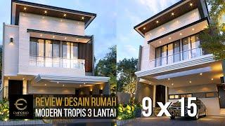 Video Desain Rumah Modern 3 Lantai Bapak Anton di  Jakarta