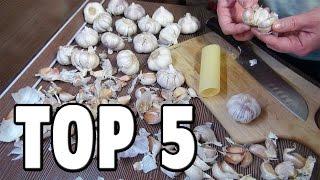 Top 5 Food Life Hacks - How To Peel Garlic