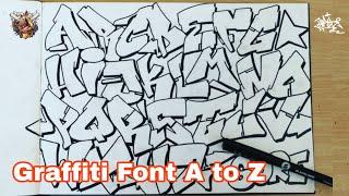 Graffiti Alphabet Font A To Z Letter By Letter Tanpa Pensil | Graffiti Kertas