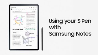 Galaxy Tab S7 | S7+: Using your S Pen with Samsung Notes | Samsung thumbnail