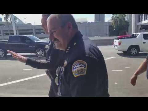lax airport police Chief David L. Maggard Jr on the beat at Los Angeles International Airport