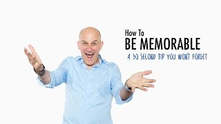 How to be Memorable: Be A Lightning Rod
