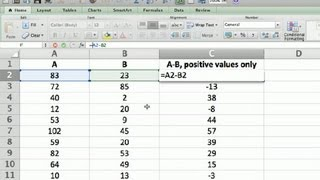 How Do I Display Only Positive Results of a Formula in Excel? : Using Microsoft Excel