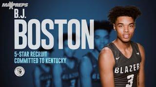 2020 Kentucky Commit BJ Boston