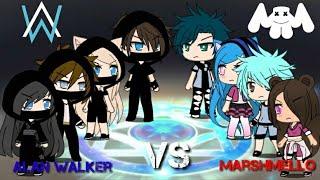 Alan Walker VS Marshmello -SINGING BATTLE-   Gacha Life  