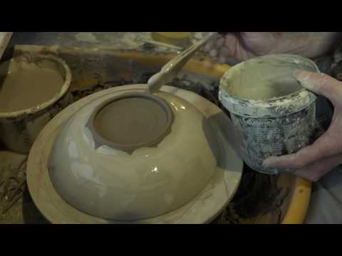 No music, no talking. Just a gruff man making delicate raku pottery.