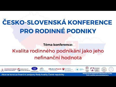 Nahrávka Medzinárodnej konferencie Česko-Slovenský deň rodinného podnikania