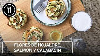 Flores de hojaldre, salmón y calabacín: el aperitivo que no te dejará indiferente