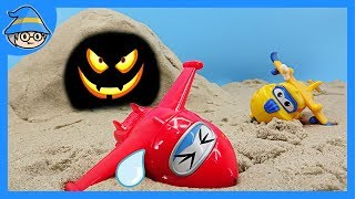 Superwings saw the trap of Romeo in the cave. Find a lizard. Rescue Super wings.