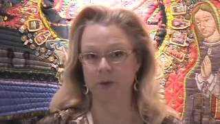 Luana Rubin Tours SAQA Exhibit Houston