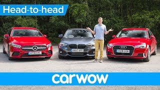2019 Mercedes A-Class vs BMW 1 Series vs Audi A3 review - which is the best premium small car.