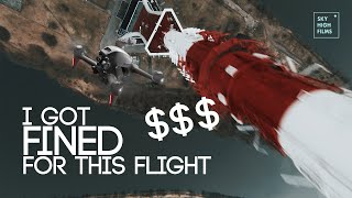 I GOT FINED FOR FLYING TOO HIGH | DJI FPV 400M DIVE #ILLEGAL