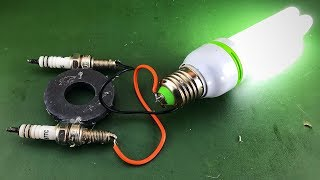 Make Electric Free Energy Using Magnet With Spark Plug Science For 2019