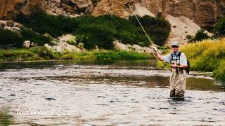 Fly fishing on the green river in southwest wyoming