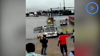 Kenyatta University bus almost sinks into Indian Ocean after sliding