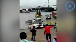Kenyatta University bus almost sinks into Indian Ocean after sliding
