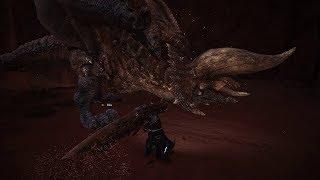 Monster Hunter World Diablos fight without HUD