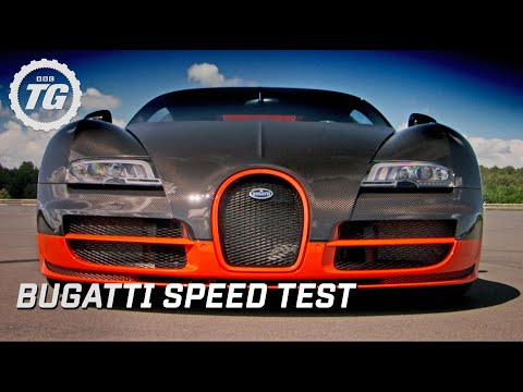 Super car video Bugatti Super Sport speed test