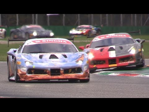 Ferrari Challenge 2018 Races at Monza Circuit-Big Crashes,Great Battles & More at Finali Mondiali