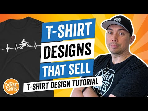 T-Shirt Designs That Sell - T Shirt Design Tutorial for Non-Designers, Make This for Print on Demand