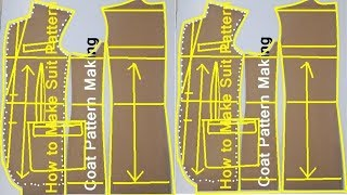 DIY Blazer Pattern Mens | Mens Blazer Pattern | DIY Coat Pattern Cutting | Mens Suit Cutting Pattern