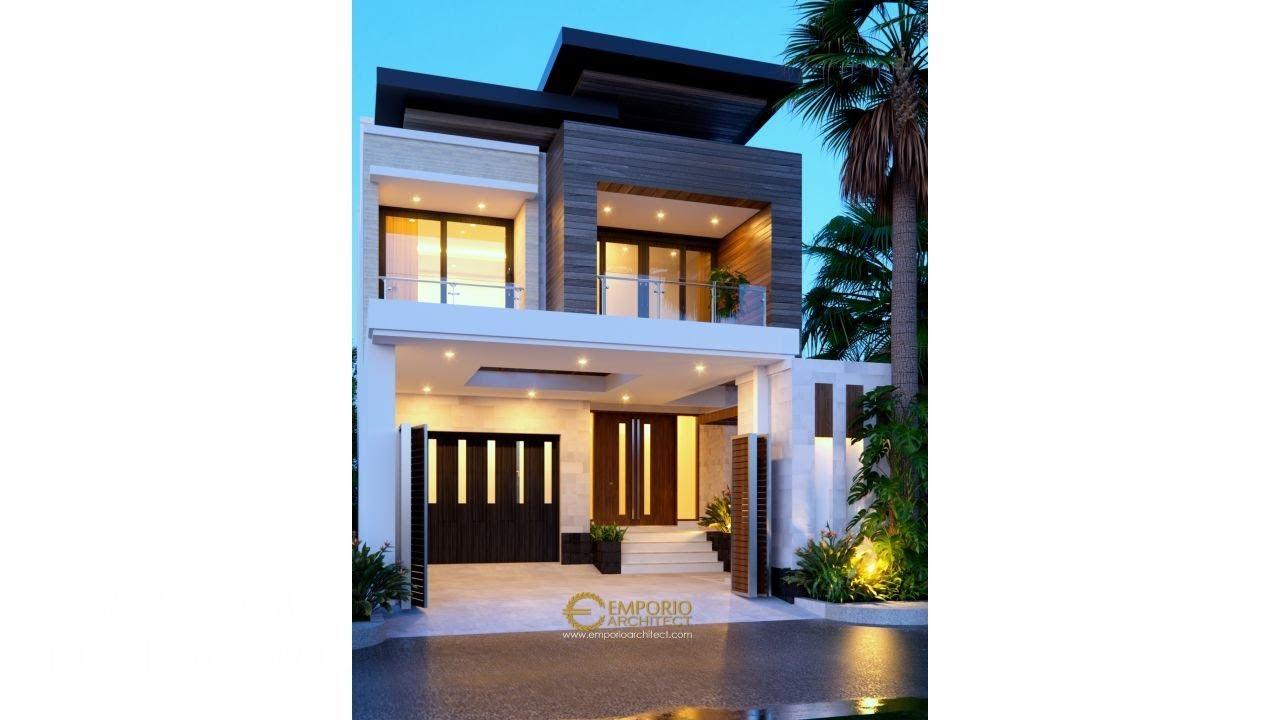 Video 3D Desain Rumah Modern 2 Lantai Ibu Via - Semarang