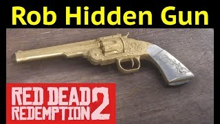 Rob Hidden Gun in Red Dead Redemption 2 (RDR2): Customize Weapon Gold Schofield Revolver