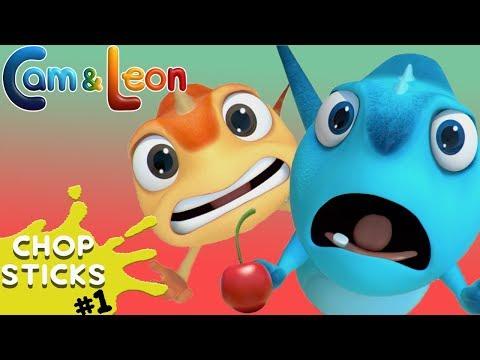 Hilarious Children Cartoon | Chopsticks | Cam & Leon