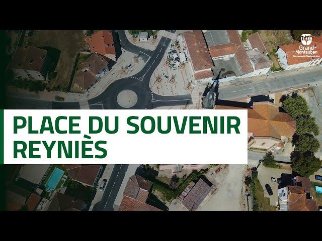 Inauguration de la place du Souvenir de Reyniès