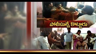 Cops Injured   by Public Attacks on Rapuru Police Station   at Nellore Dist