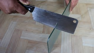 How to cut a plane glass .