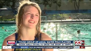 Group of girls at Bakersfield Water Polo Club trying to grow local interest in water polo
