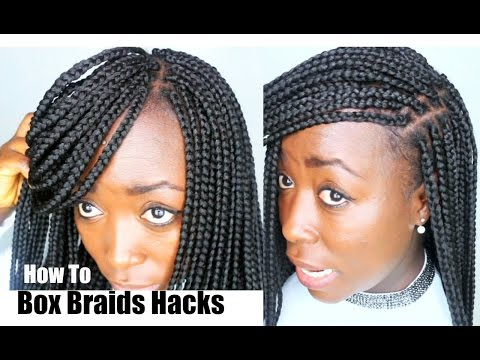 How To Box Braids Your Own Hair Tips And Tricks Hair Hacks Diy