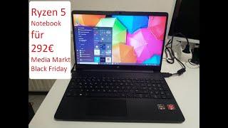 AMD Ryzen 5 Notebook für ca. 292€ von Mediamarkt - HP 15s-eq0355ng Black Friday-Week