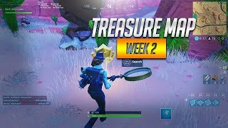 Search Between An Oasis Rock Archway And Dinosaurs Fortnite Season  Treasure