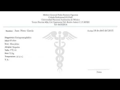 formato para receta medica - Sendilcharlasmotivacionales