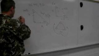 Analytic Geometry Unit 2 Solving Special Right Triangles Part A