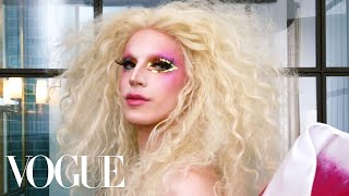 RuPaul's Drag Race Star Aquaria Gets Ready for Pride Week | Beauty Secrets | Vogue - Video Youtube