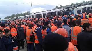 Тобольск Сибур 1 кпп толпа автобус