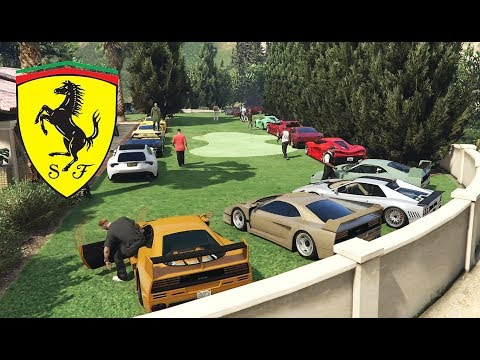 Ferrari CAR MEET IN GTA 5 ONLINE