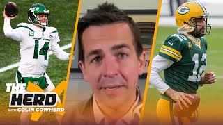 Albert Breer on Sam Darnold trade, 49ers' & Falcons' NFL Draft plans, Aaron Rodgers | NFL | THE HERD