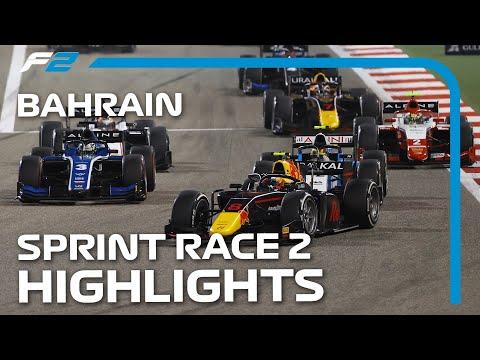 F2第1戦バーレーンGP(サクヒール)スプリントレース2のハイライト動画