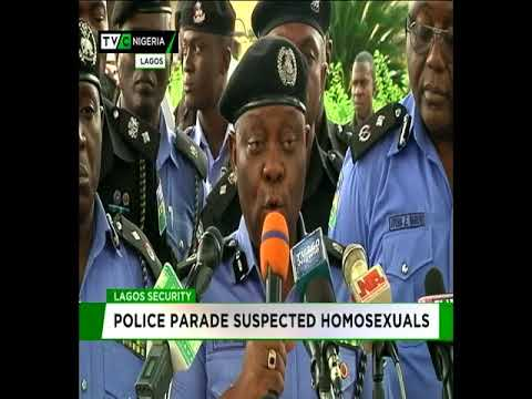 Poice parade suspected Homosexuals in Lagos