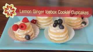Lemon-Ginger Icebox Cookie Cupcakes - Betty Crockers Red Hot Summer Trends