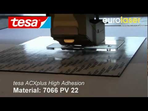 tesa® ACXplus High Adhesion | Laser cutting test
