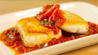 Sweet Chili Halibut Recipe ปลาราดพริก (Pla Raad Prik) - Hot Thai Kitchen