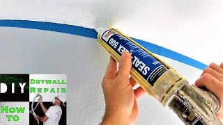 How to create a straight cut line on a  textured ceiling - Pro Painter Tips and Tricks