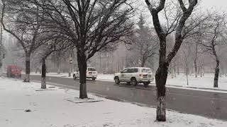 Снегопад в Мариуполе. 4.01.2019