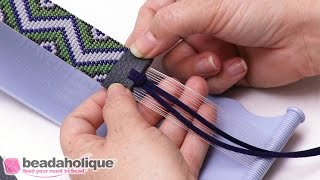 How To Finish Off Beaded Loom Work With Faux Leather